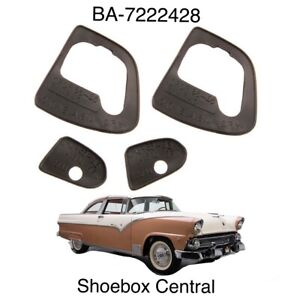 1955 1956 Ford Outside Exterior Door Handle Pads