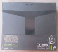 00 HASBRO / THE BLACK SERIES BOBA FETT AND HAN SOLO IN CARBONITE 6 inch