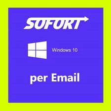 Microsoft Windows 10 Pro versione completa ✔ azione 32 & 64 bit product-KEY CHIAVE OEM