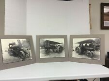Tractor Steam Engines Photos- Set of 3- Minneapolis, Avery, Keck Gonnerman