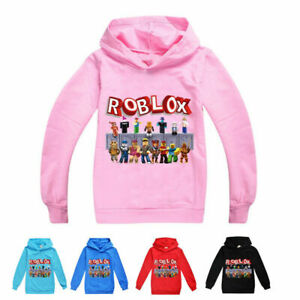 New Roblox Hoodies Kids Boys Girls Casual Hooded Sweatshirt Jumper Tops Gift