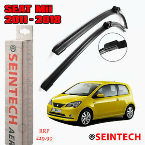 SEAT MII 2011 ONWARDS SPECIFIC FIT FRONT AND REAR WIPER BLADES + PLASTIC ARM