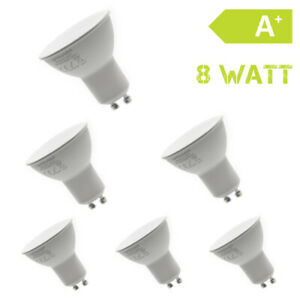 6er Set GU10 LED 8 Watt Blanc Chaud Spot Lampe