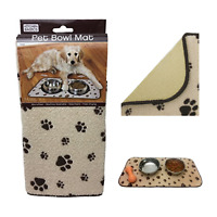 Non-Slip Pet Feeding Mat for Dog Cat Puppy Kitten Water Food Bowl Non-Skid Paw