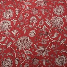 "P KAUFMANN FIELD OF DREAMS MERLOT RED JACOBEAN FLORAL FABRIC BY YARD 54""W"