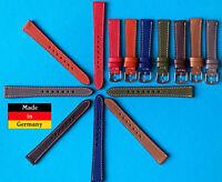 Feines Damen Leder Uhrenarmband 14mm 7 Farben Made in Germany