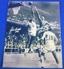 BILL RUSSELL & WILT CHAMBERLAIN REPRINT autograph  8x10 photo Warriors & Celtics