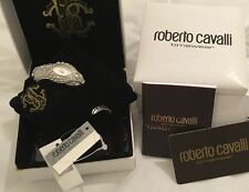 NEW ROBERTO CAVALLI Snake Watch S/S  RRP £395 Charity Auction low start price