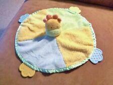 Blanket Giraffe Blue Green Yellow Round Carters Plush Baby Lovey Security Teethe