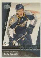 CODY FRANSON ~ YOUNG GUNS Rookie Card ~ 2009-10 Upper Deck #475 ~ PREDATORS ~ RC