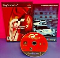 Gran Turismo 3 A-Spec Red covr PS2 Playstation 2 COMPLETE Game 1 Owner Mint Disc
