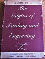 1940 reference book THE ORIGINS OF PRINTING AND ENGRAVING by Andre Blum FIRST ED