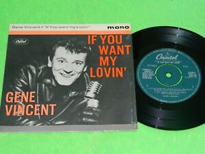 "GENE VINCENT : If you want my lovin' EP - Original 1961 UK 7"" EP single EX 208"