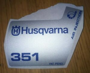 New Original Husqvarna OEM 351 sticker decal 503910405