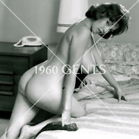 1960 NUDE 8X10 PHOTO OF BUSTY NIPS JULIE WILLS WILLIAMS FROM ORIGINAL NEG-JWW21