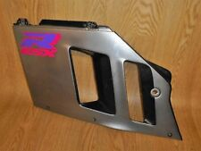 SUZUKI GSXR750-M SLINGSHOT FRONT LEFT MID SIDE FAIRING PANEL SILVER/BLACK 1991
