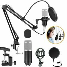 BM-800 Pro Kondensator microphone Mikrofon Kit Komplett Set für Studio Silber DE