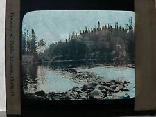 Magic Lantern Glass Slide of River & Country Side