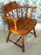 Ethan Allen Tavern Chair 10 6052 Thick Seat Heavy Duty Heirloom Nutmeg Maple