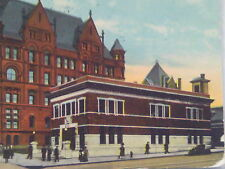 1912 Postcard City Hall Fireman Fire Station Department Kansas City Missouri Mo