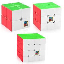 Moyu Speed Cube Bundle 2x2 3x3 4x4 Stickerless Brain Teasers Magic Cube Sets