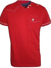 NWT Duck And Cover Size Small Mens Poppy Red Morley V-Neck T-Shirt DAC150489
