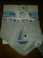 New nip Asher and Olivia boys kerchief bandana bibs drool bibs boys boat set 🚢