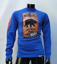 DO NOT FEED THE BEARS GRIZZLY GRIPTAPE ROYAL CREWNECK PULLOVER MENS SMALL