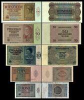 5 - 100 Billionen Reichsbanknoten Februar - März 1924 - 1+2. Ausg.- Reproduktion
