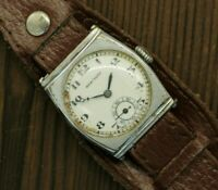 Vintage Mens 1940s Swiss Military Watch HERCULES WWII RARE mechanical 15 jewels