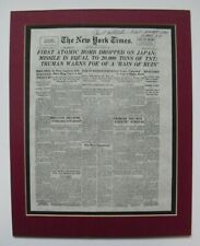 PAUL TIBBETS original signature on newspaper reproduction, with COA, matted