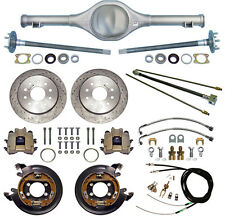 CURRIE 67-70 MUSTANG REAR END & DRILLED DISC BRAKES,LINES,E-BRAKE CABLES,AXLES,+
