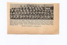 Indiana Hoosiers & Wisconsin Badgers University 1939 Football Team Picture