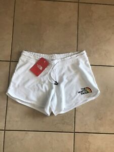 The North Face | M UK 10-12 | weiß Baumwolle Shorts | Pride Regenbogen