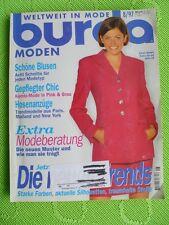 Burda Moden 8 / 1997 mit Schnittmuster Nähen Stoffe - Blusen- Extra Modeberatung