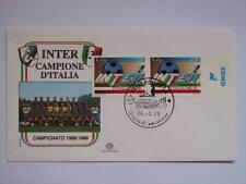 BUSTA PRIMO GIORNO FDC INTER CAMPIONE D'ITALIA NAPOLI- COMO   (m14-12-5  )