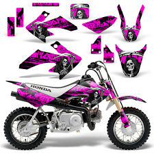 Honda CRF50 Graphic Kit MX Dirt Bike Decals Graphics Wrap CRF 50 04-13 REAP PINK
