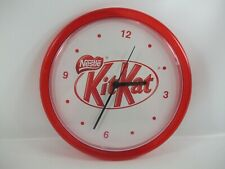 "Nestle Kit Kat Chocolate Bar Red 10"" Wall Clock Tested Works"