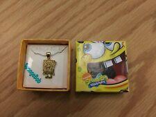 New ListingNew Spongebob Squarepants Pendant Sterling Silver Covered in 18k Gold in Box