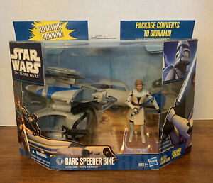 2010  Star Wars - The Clone Wars - Barc Speeder Bike with Obi-Wan Kenobi