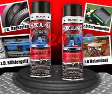 2x Herculiner Beschichtung Spraydose Spray 440 ml schwarz extrem robust
