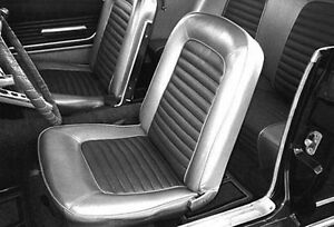 NEW! 1967 Ford Mustang Black Seat covers Upholstery Buckets & Rear Seat Fastback