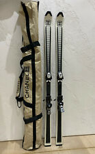 Authentic CHANEL Women's Skis White & Black Ski 160 cm With Case Bag RRP $12,500