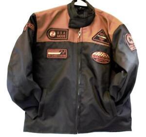 motorcycle kids jacket brown/black Usa mode motor usa classics size 12