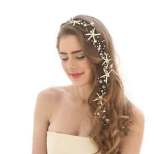 Wedding Bridal Bridesmaid Crystal Pearl Starfish Headband Hair Accessories Tiara