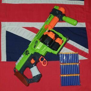 Nerf Zombie Strike Doominator Blaster Gun 30 Waffle Tipped Darts JOB LOT BUNDLE