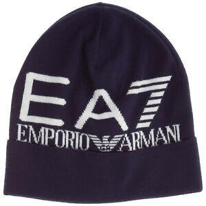 Emporio Armani EA7 berretto uomo 2749031A30100035 blu cappello cuffia