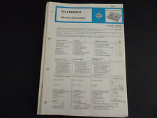 ORIGINALI service manual TELEFUNKEN MC 2100 MC 2100 SKA