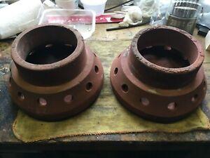 2 Chimney pots cap top Ventilator Hood Cowl Pepper Pot Terracotta Clay Flue Vent