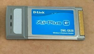 D-Link AirPlus G DWL-G630 Wireless G Notebook adapter PCMCIA cardbus wi-fi